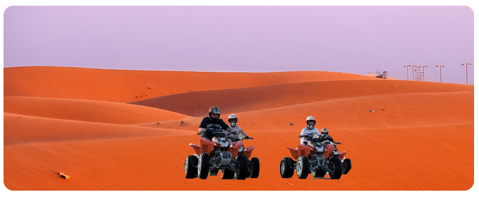 Big red quad biking Dubai, Big red sand dune buggy, quad bike, ATV bike rental, Big red off road tour