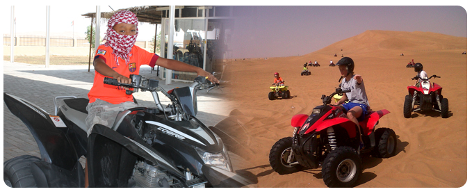 Quad bike kids tour, teenagers, families, groups, Kids Quad tour Dubai